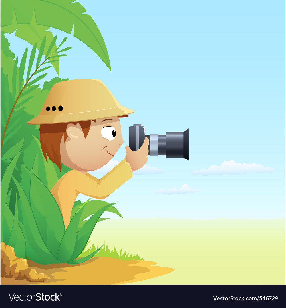 Cartoon photographer vector | Price: 3 Credit (USD $3)