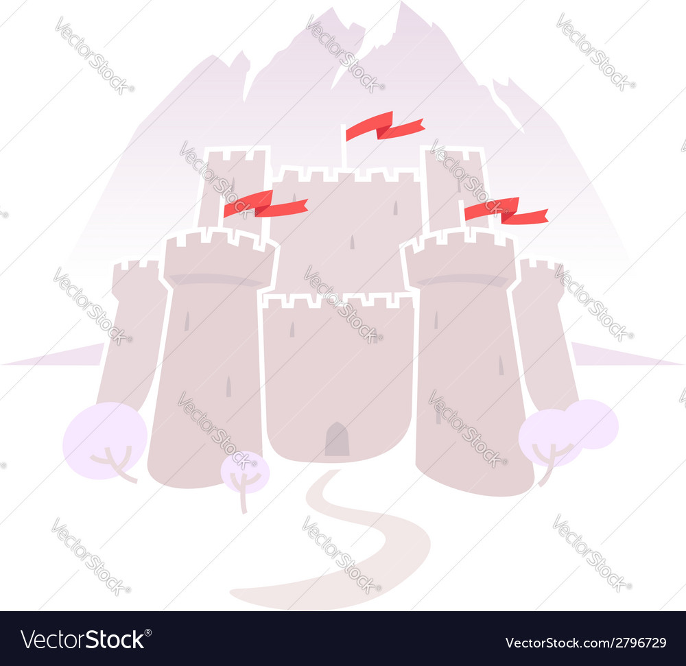 Castle in the mountains vector | Price: 1 Credit (USD $1)