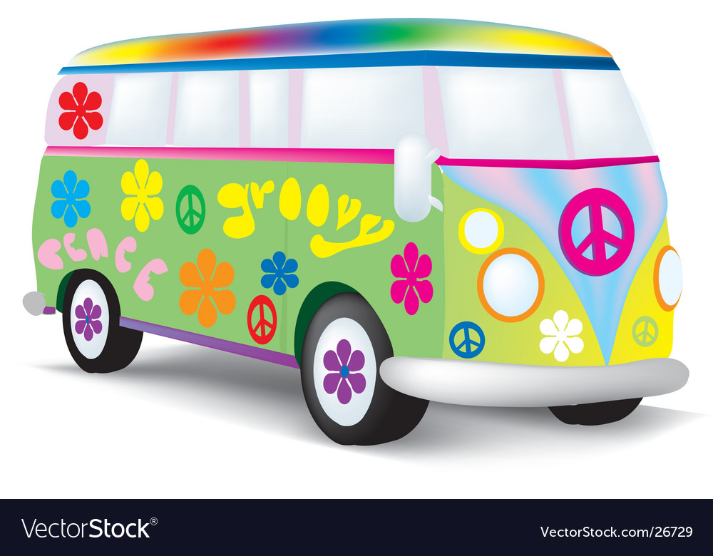 Hippie bus vector | Price: 1 Credit (USD $1)