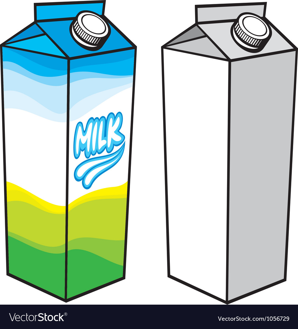Milk carton with screw cap vector | Price: 1 Credit (USD $1)
