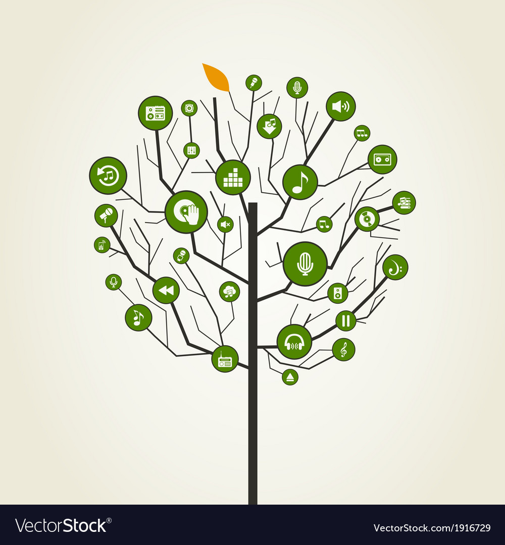 Musical tree9 vector | Price: 1 Credit (USD $1)