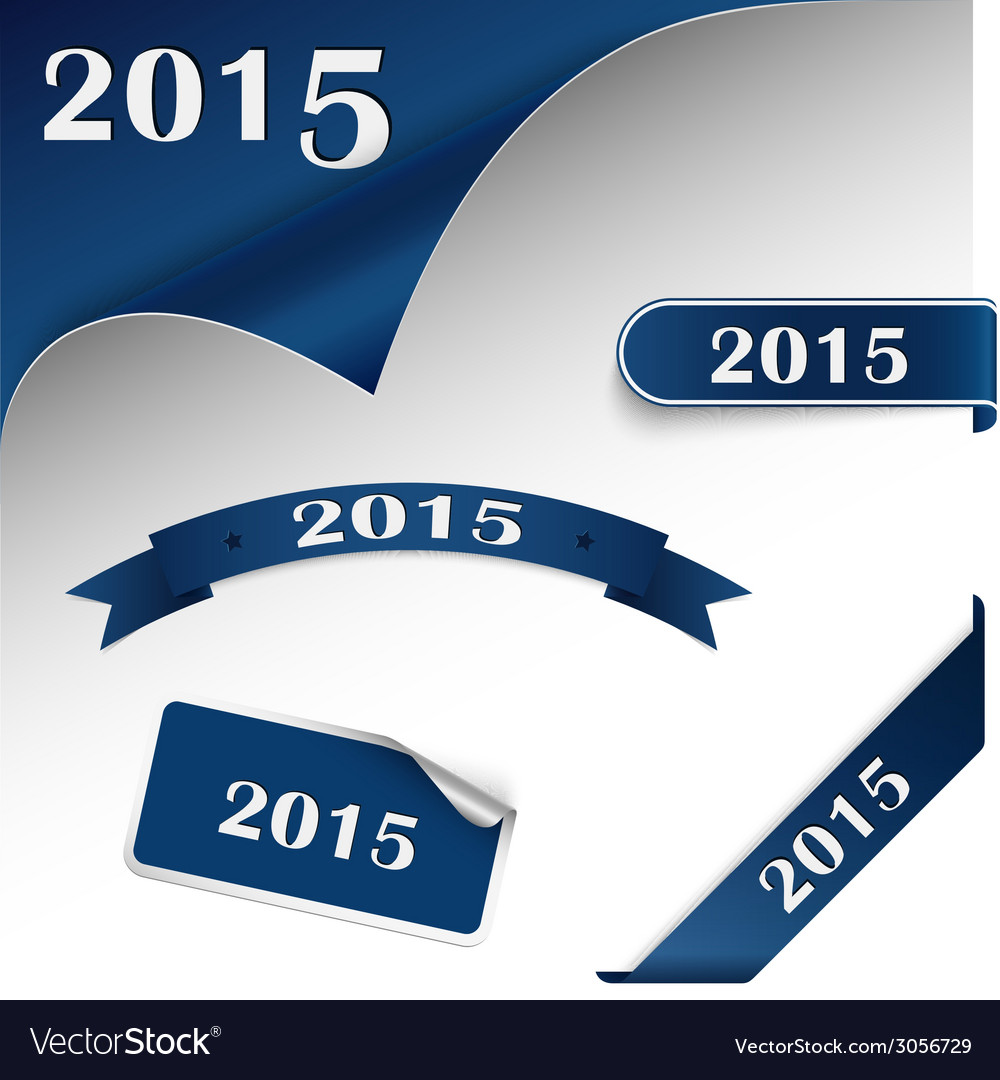 New year blue card web element vector | Price: 1 Credit (USD $1)