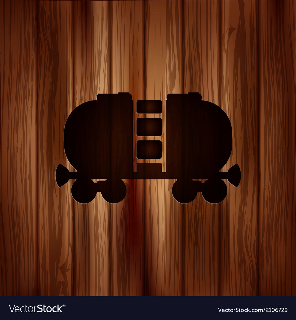 Oil tank iconwooden background vector | Price: 1 Credit (USD $1)
