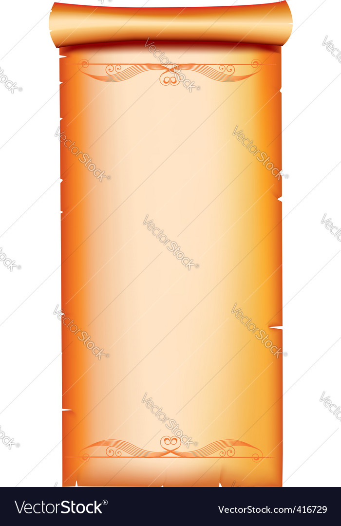 Scroll vignette vector | Price: 1 Credit (USD $1)