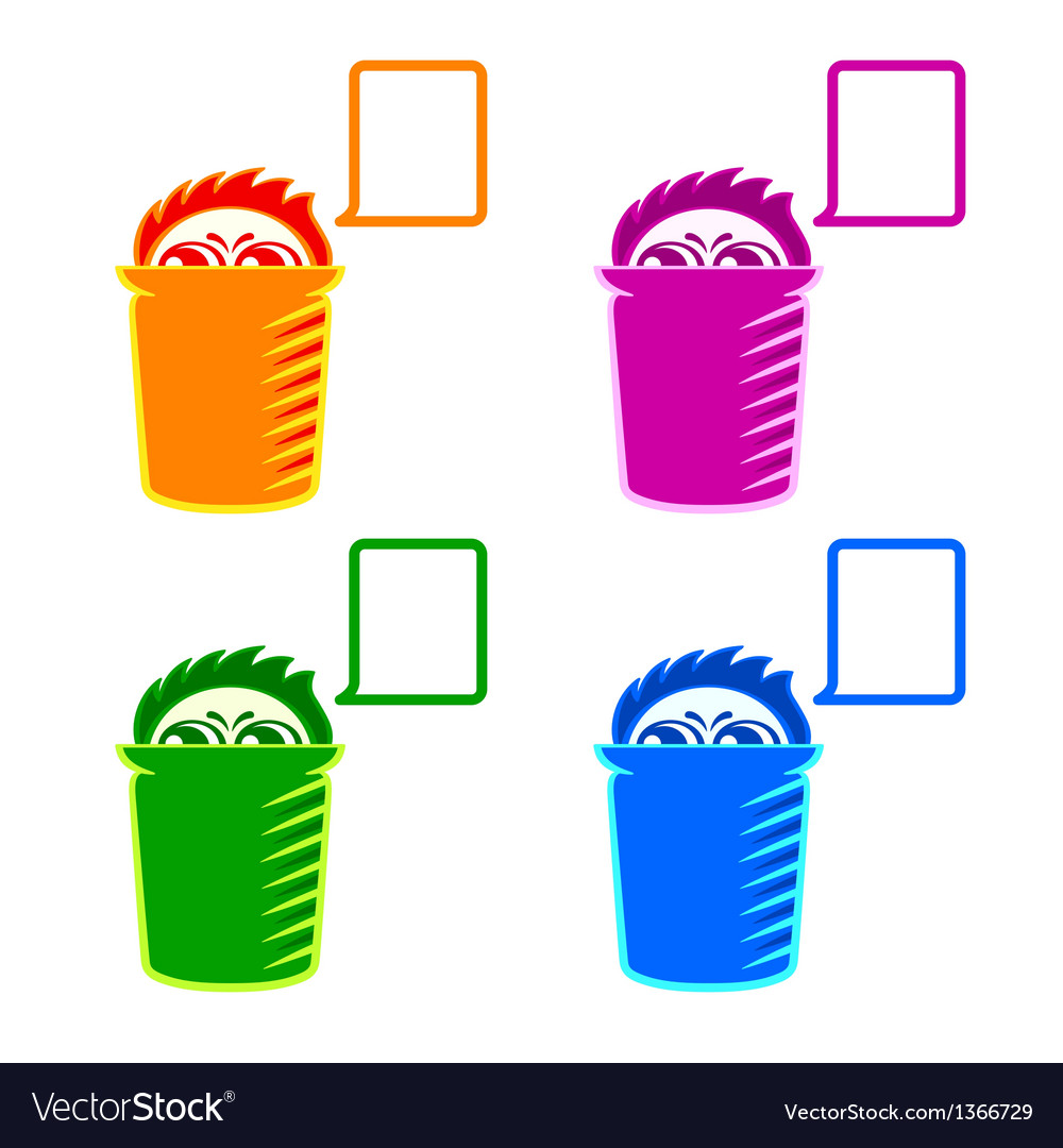 Shy recycle bin vector | Price: 1 Credit (USD $1)