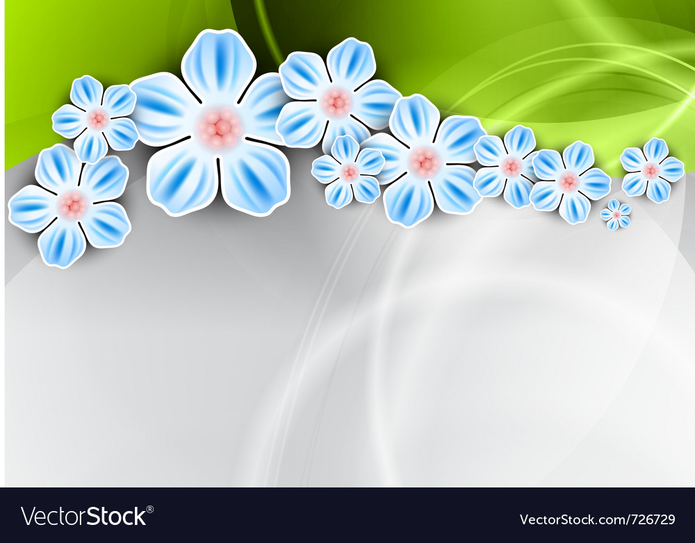 Spring background with the green wave vector | Price: 1 Credit (USD $1)
