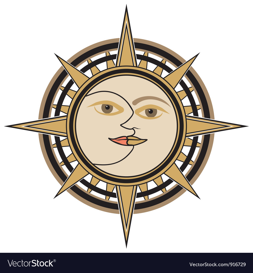 Sun and moon sign vector | Price: 1 Credit (USD $1)