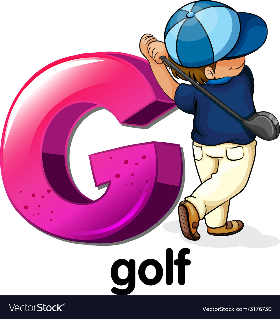 A letter g for golf vector | Price: 1 Credit (USD $1)