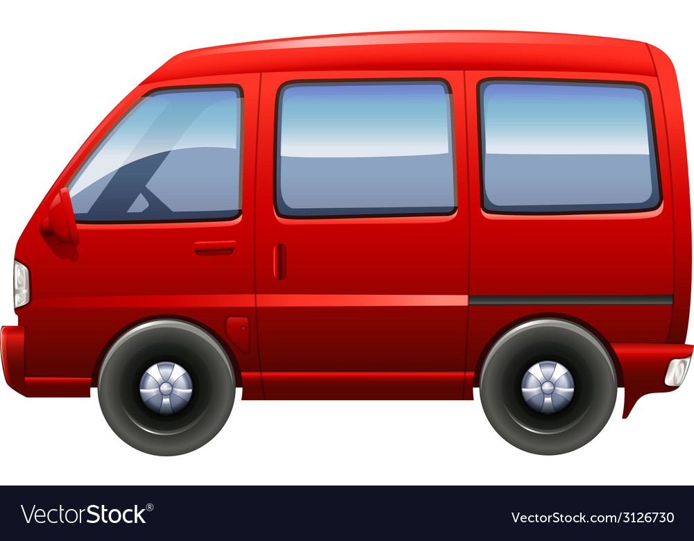 A red minivan vector | Price: 1 Credit (USD $1)