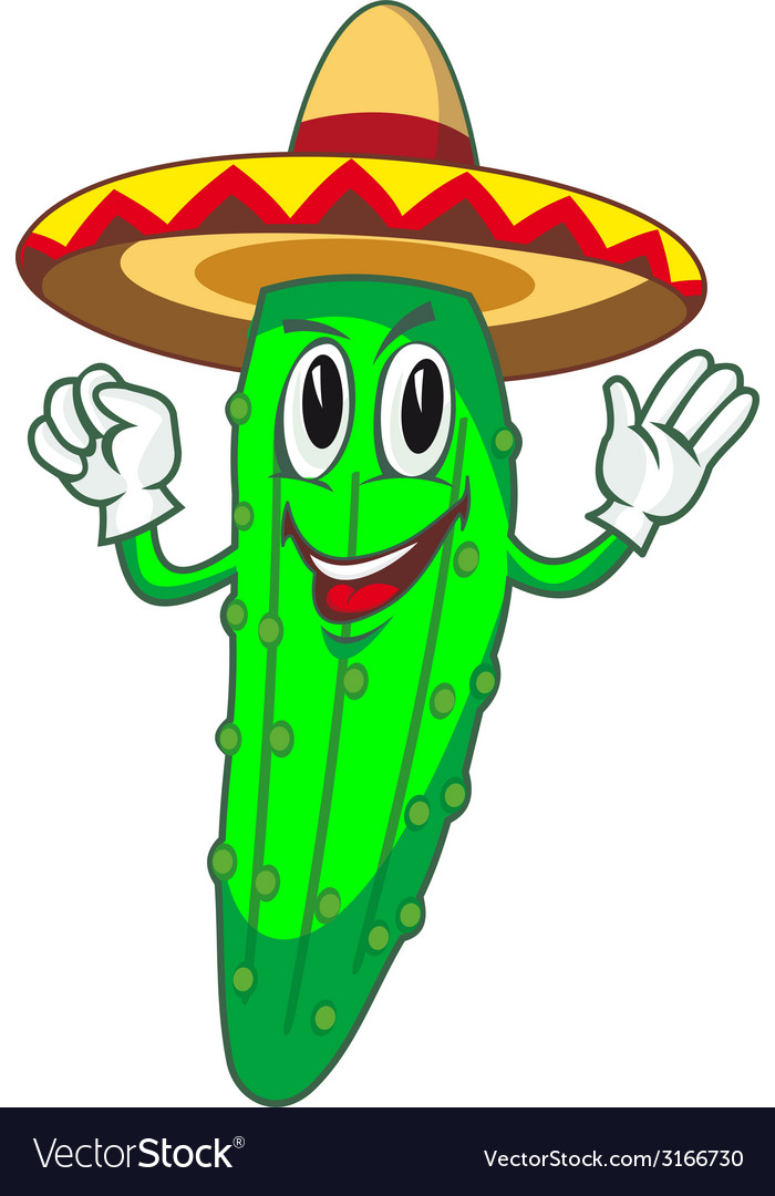Cartoon cucumber vector   Price: 1 Credit (USD $1)
