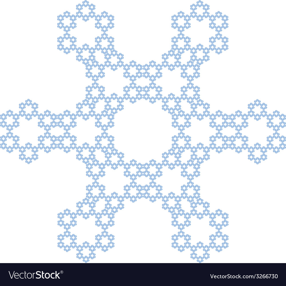 Crystal snowflake vector   Price: 1 Credit (USD $1)