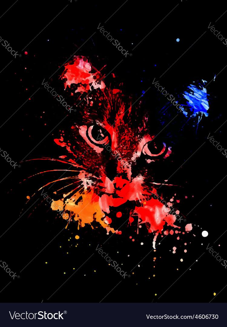 Grunge cat2 vector | Price: 1 Credit (USD $1)