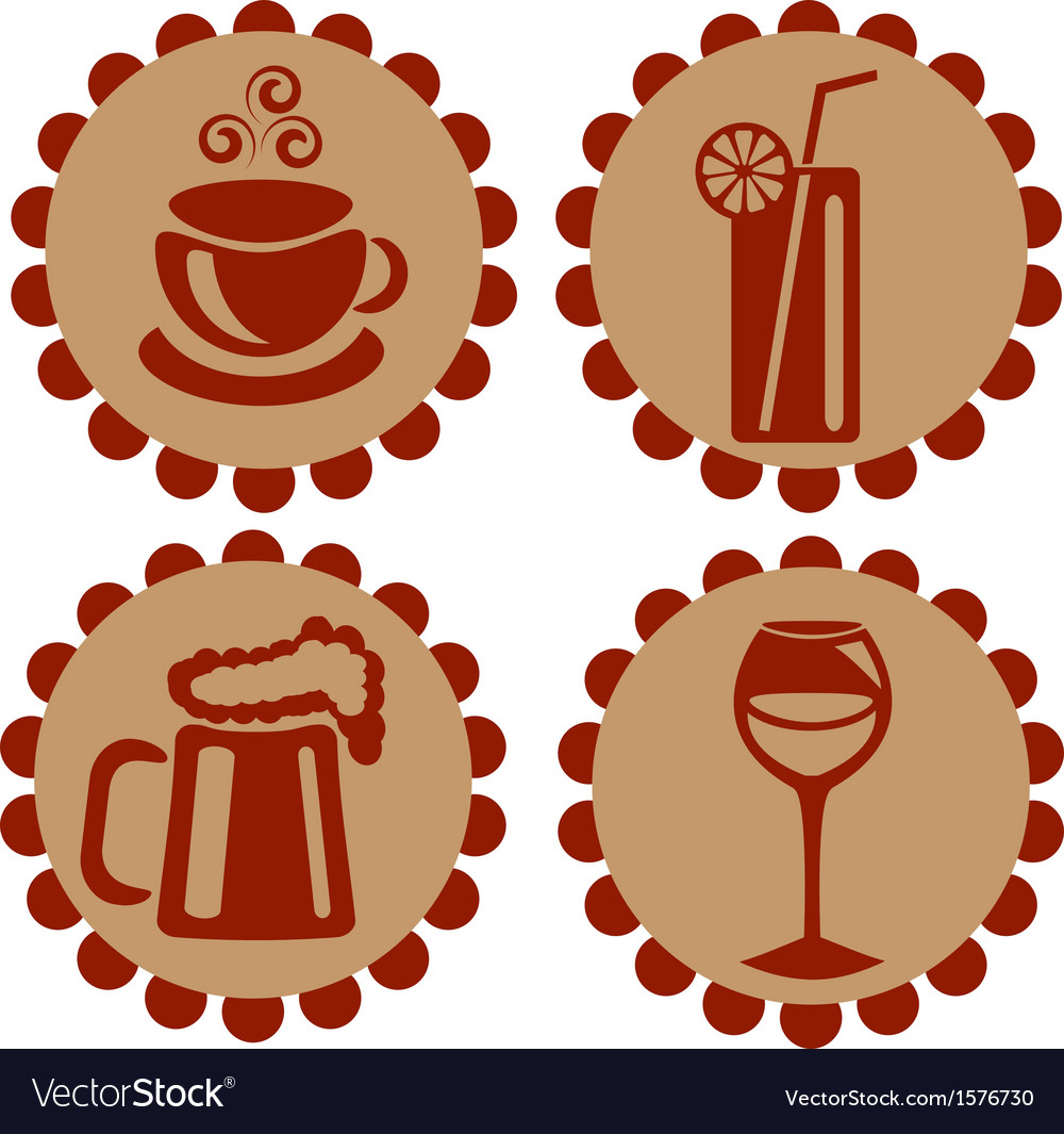 Icons featuring drinks vector | Price: 1 Credit (USD $1)