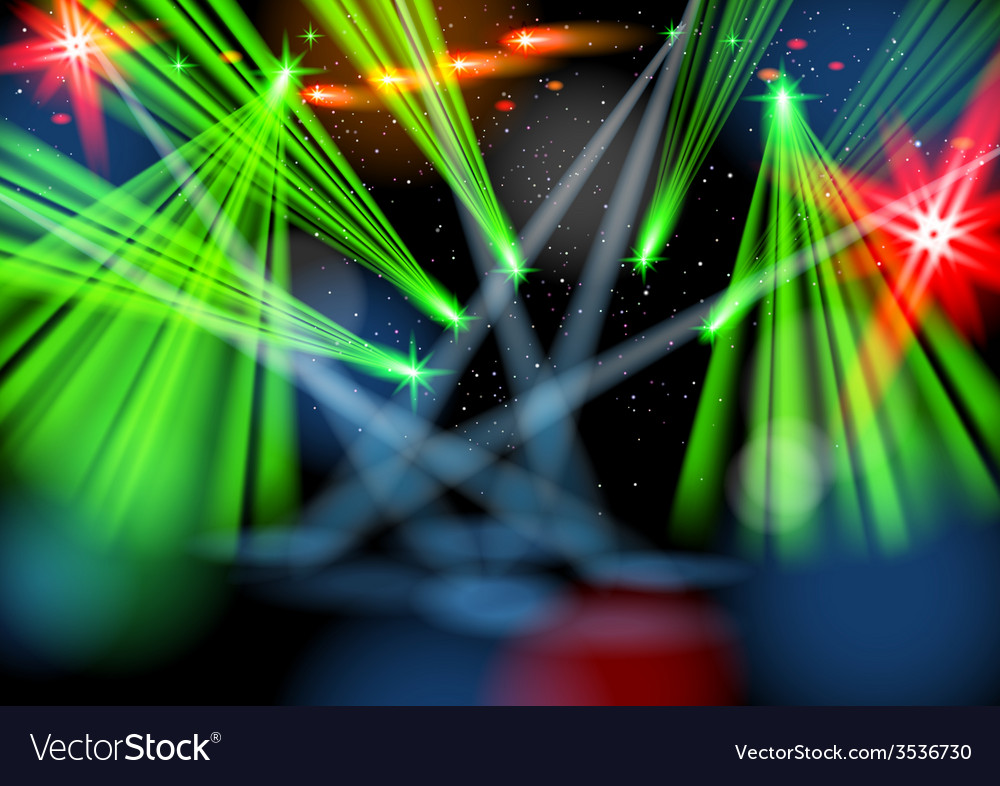 Illuminated empty stage light show vector | Price: 1 Credit (USD $1)