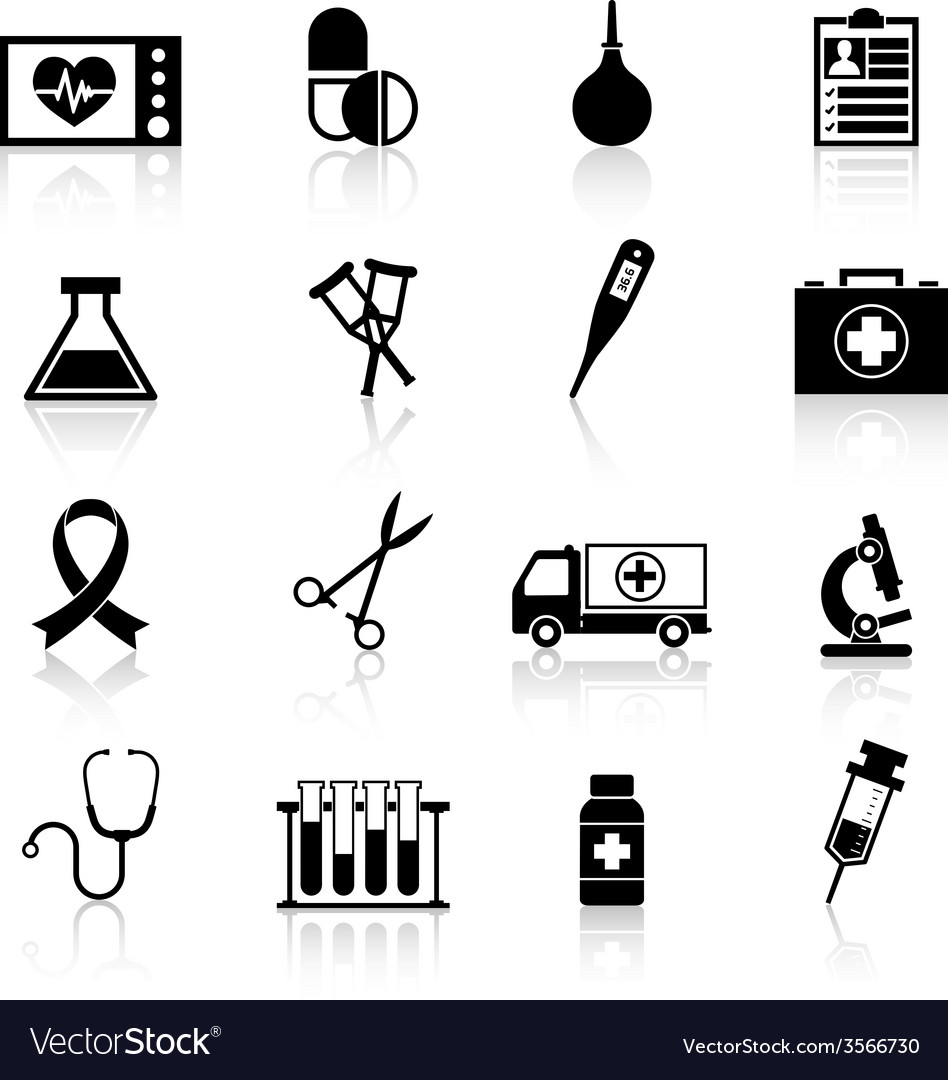 Medical equipment icon black vector | Price: 1 Credit (USD $1)