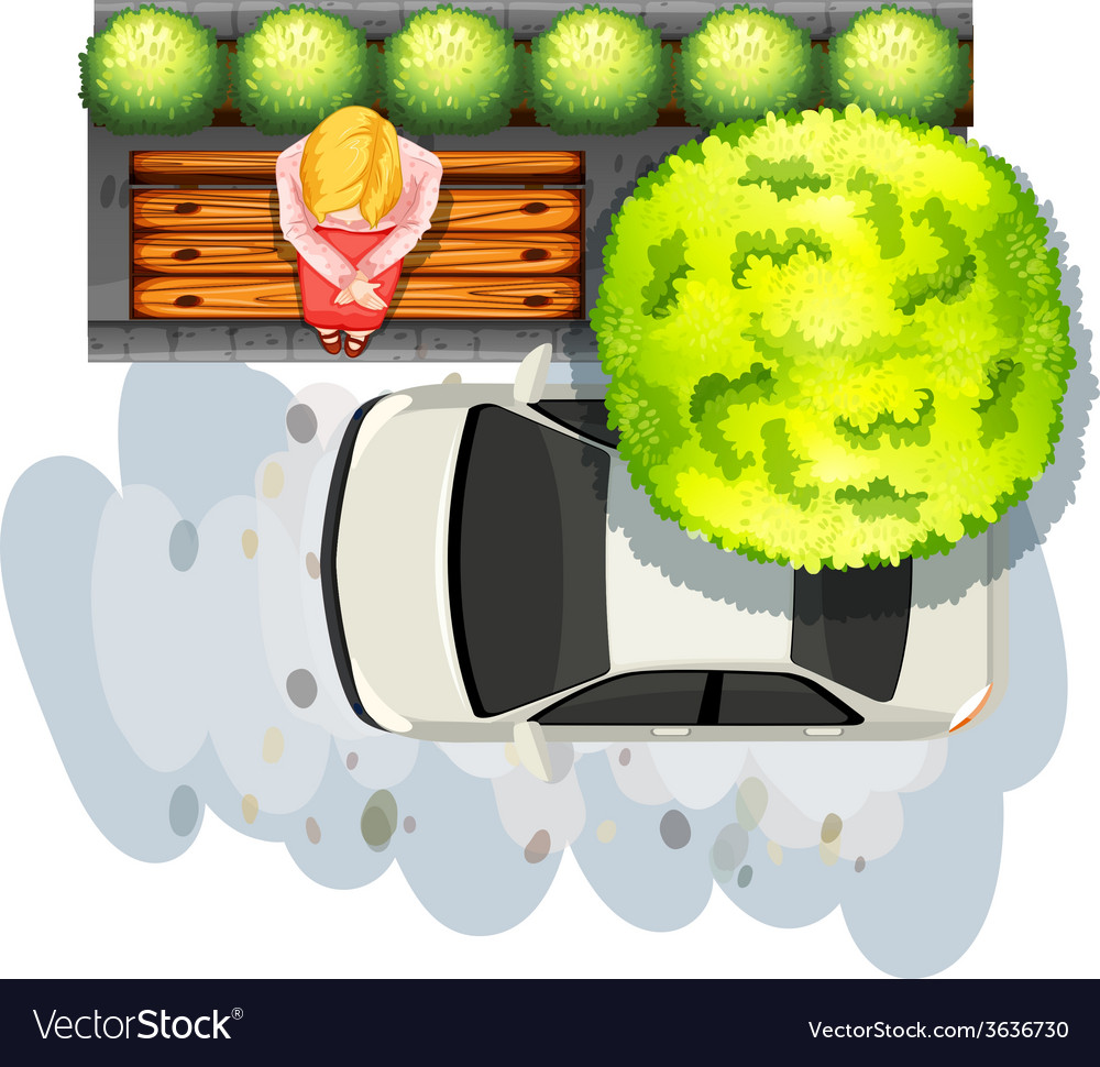 Sidewalk and car vector | Price: 1 Credit (USD $1)
