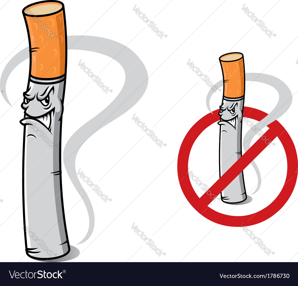 Sign no smoking with danger cigarette vector | Price: 1 Credit (USD $1)