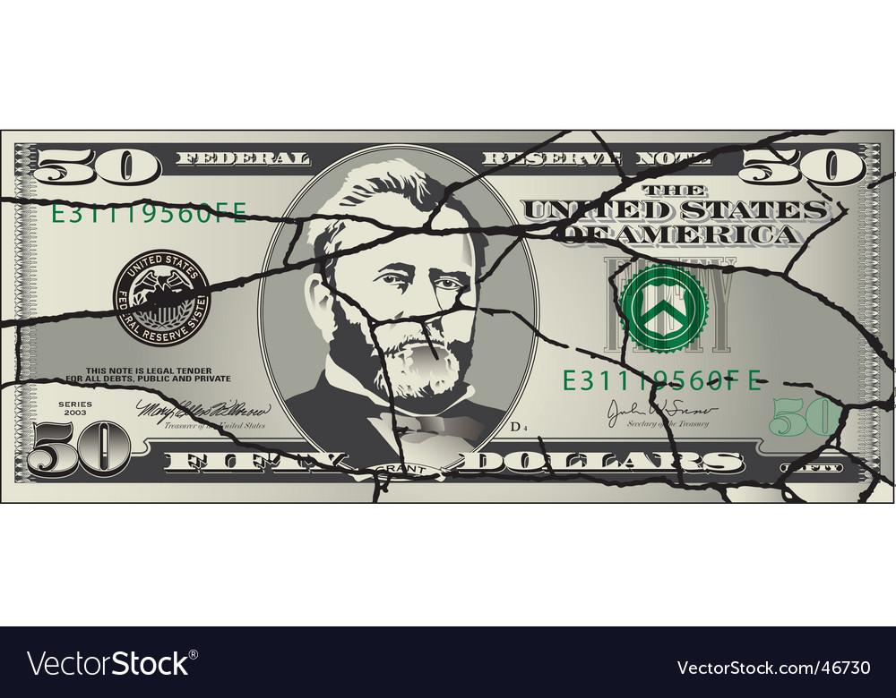 Torn 50 dollar vector | Price: 1 Credit (USD $1)