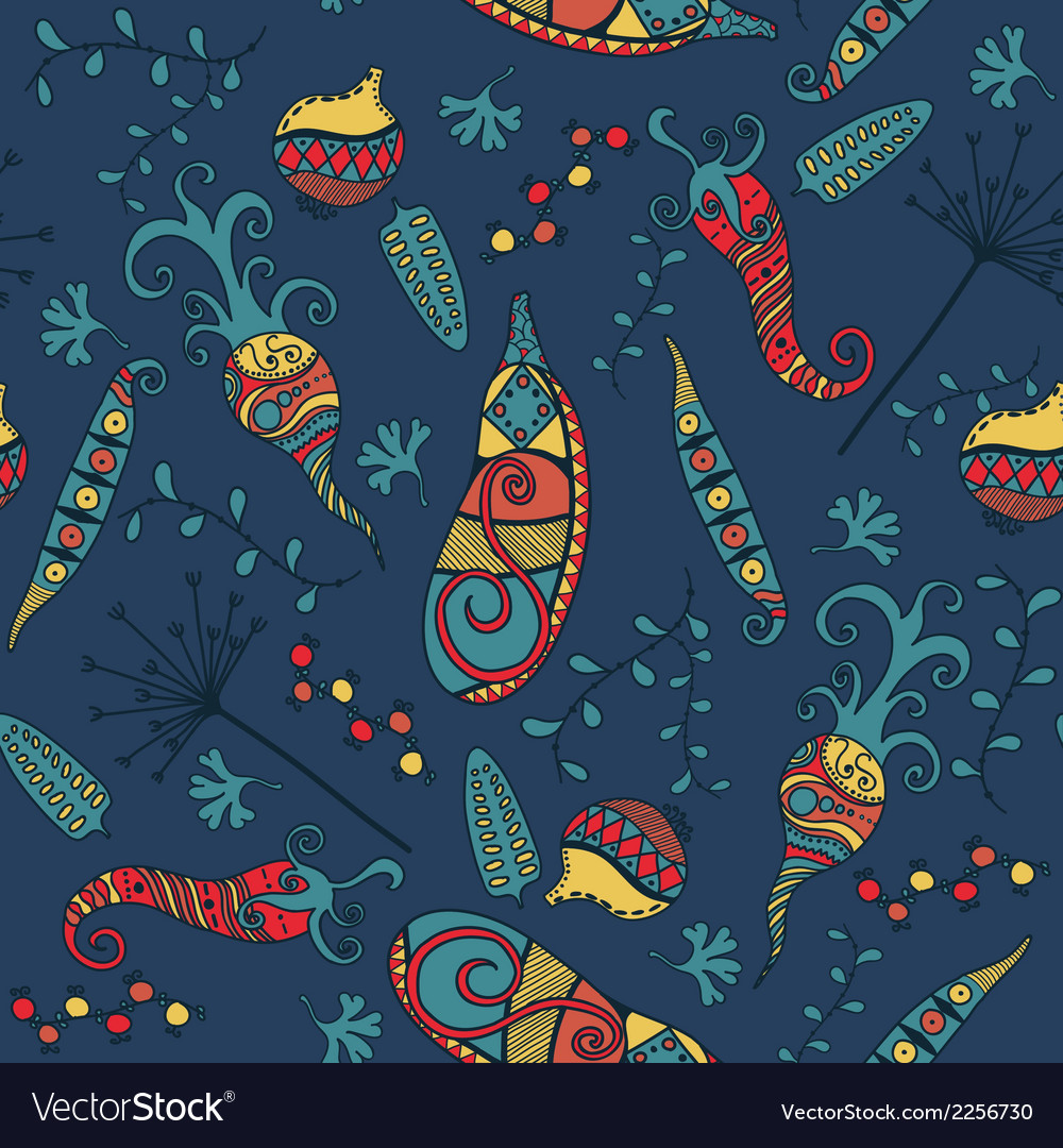Vegetables - seamless pattern background vector | Price: 1 Credit (USD $1)