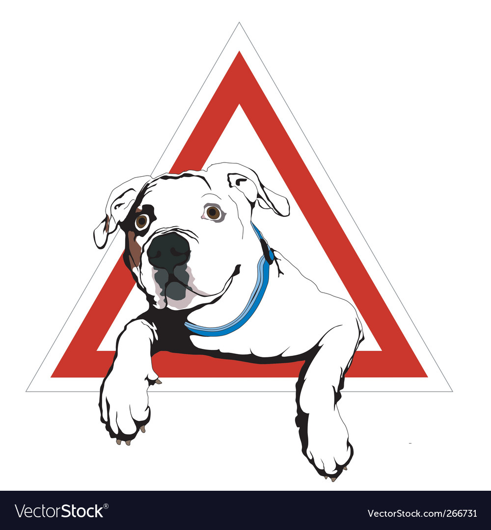 American bulldog on board vector | Price: 1 Credit (USD $1)