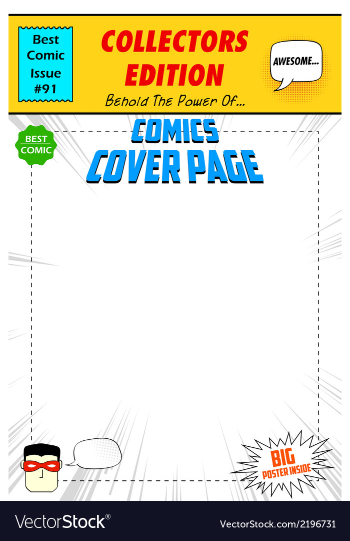 Comic book cover vector | Price: 1 Credit (USD $1)