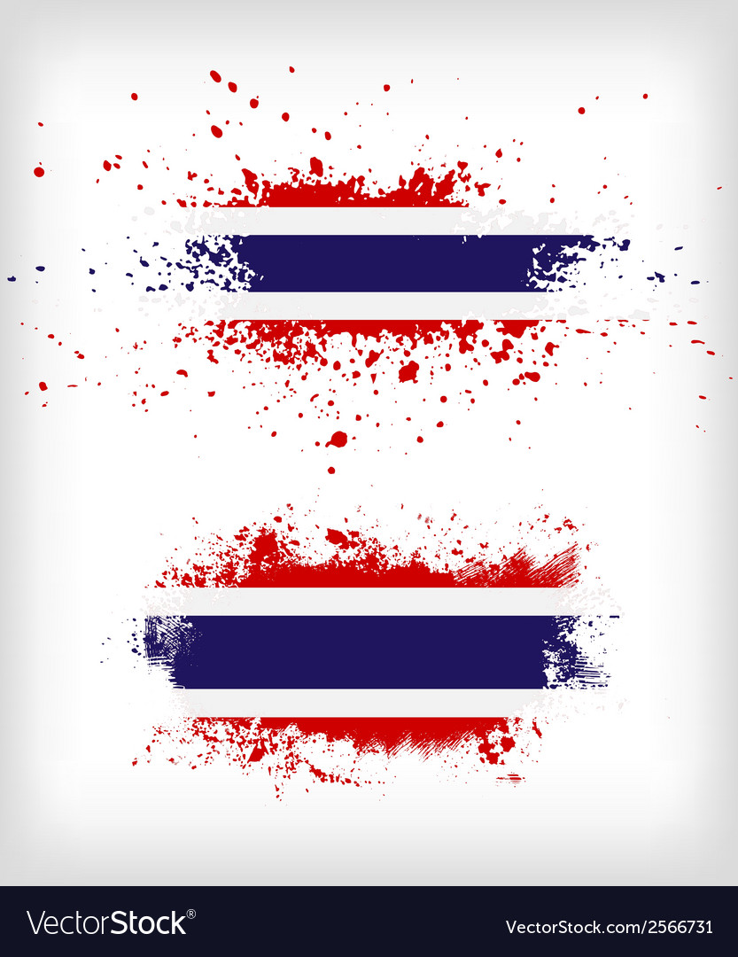 Grunge thai ink splattered flag vector | Price: 1 Credit (USD $1)