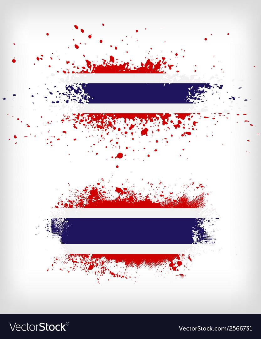 Grunge thai ink splattered flag vector | Price: 1 Credit (USD $1)