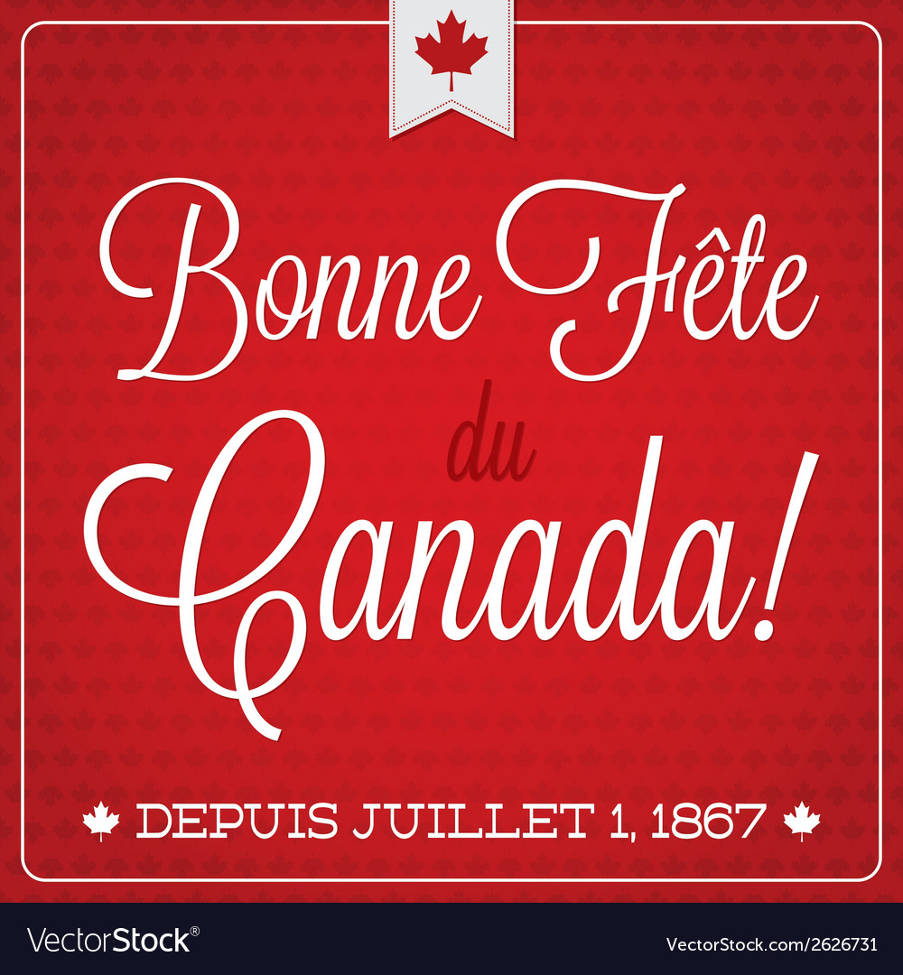 Happy canada day retro card in format vector | Price: 1 Credit (USD $1)