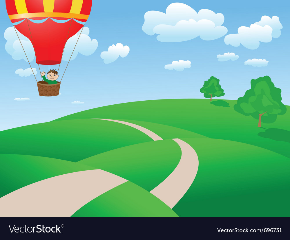 Landscape balloon vector | Price: 1 Credit (USD $1)