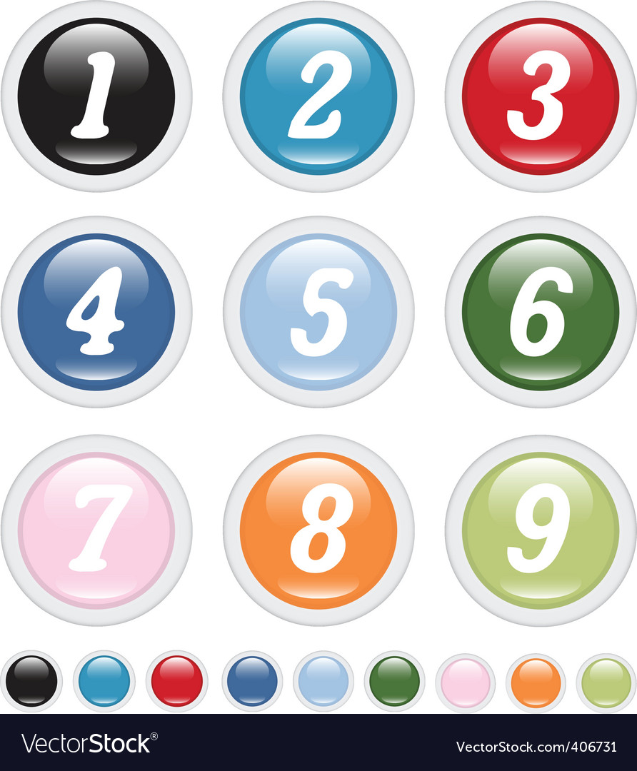 Number buttons vector | Price: 1 Credit (USD $1)