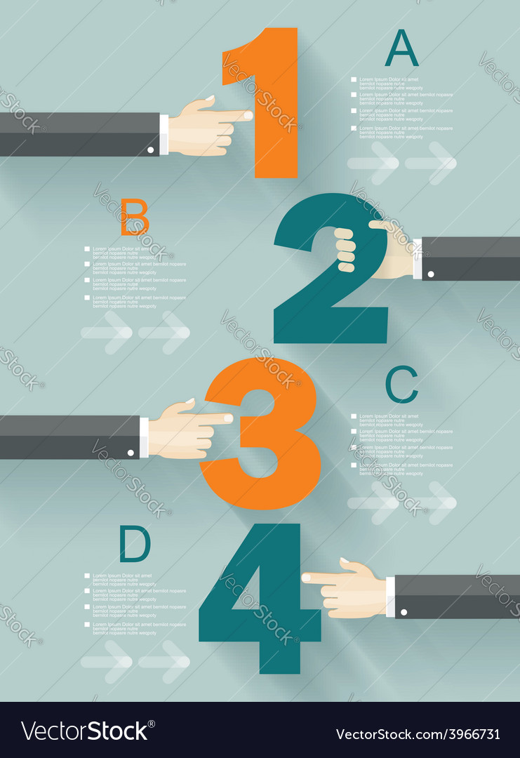 Number options template vector | Price: 3 Credit (USD $3)