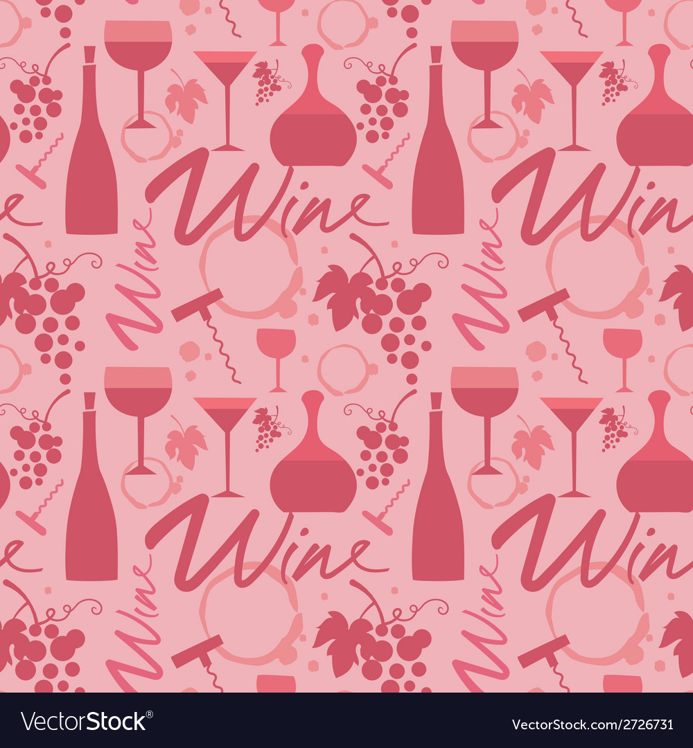 Red wine pattern vector | Price: 1 Credit (USD $1)