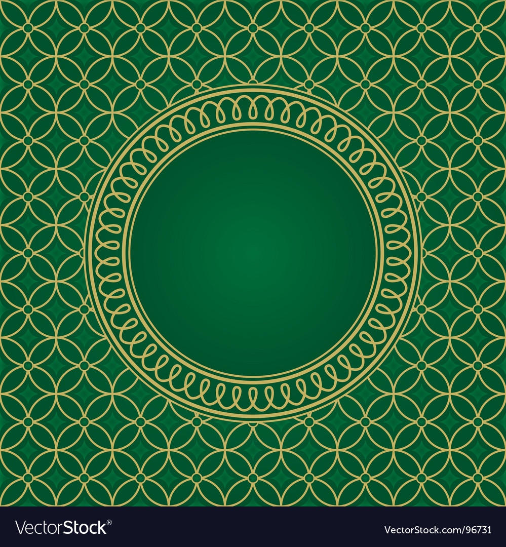 Seamless pattern and round frame vector | Price: 1 Credit (USD $1)
