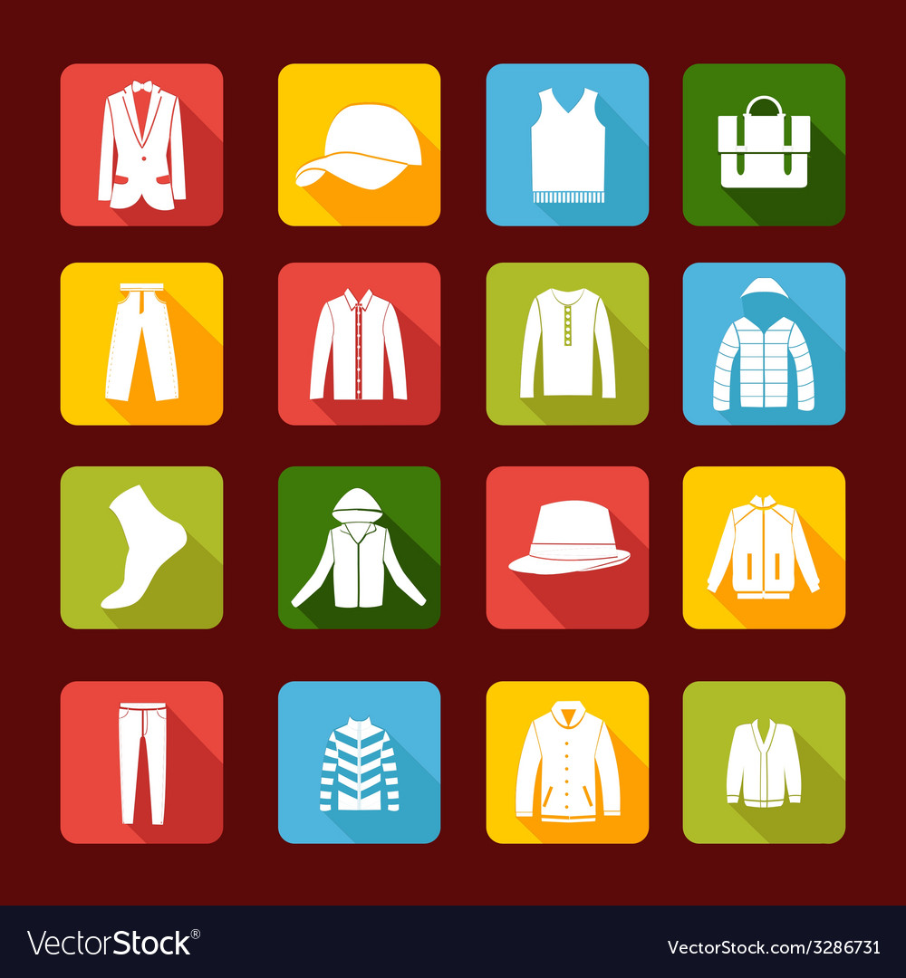 Set with collection of men clothing vector | Price: 1 Credit (USD $1)
