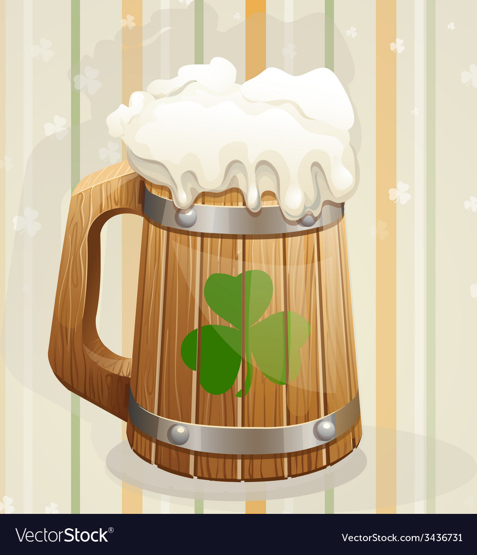 St patricks day background with a mug vector   Price: 1 Credit (USD $1)