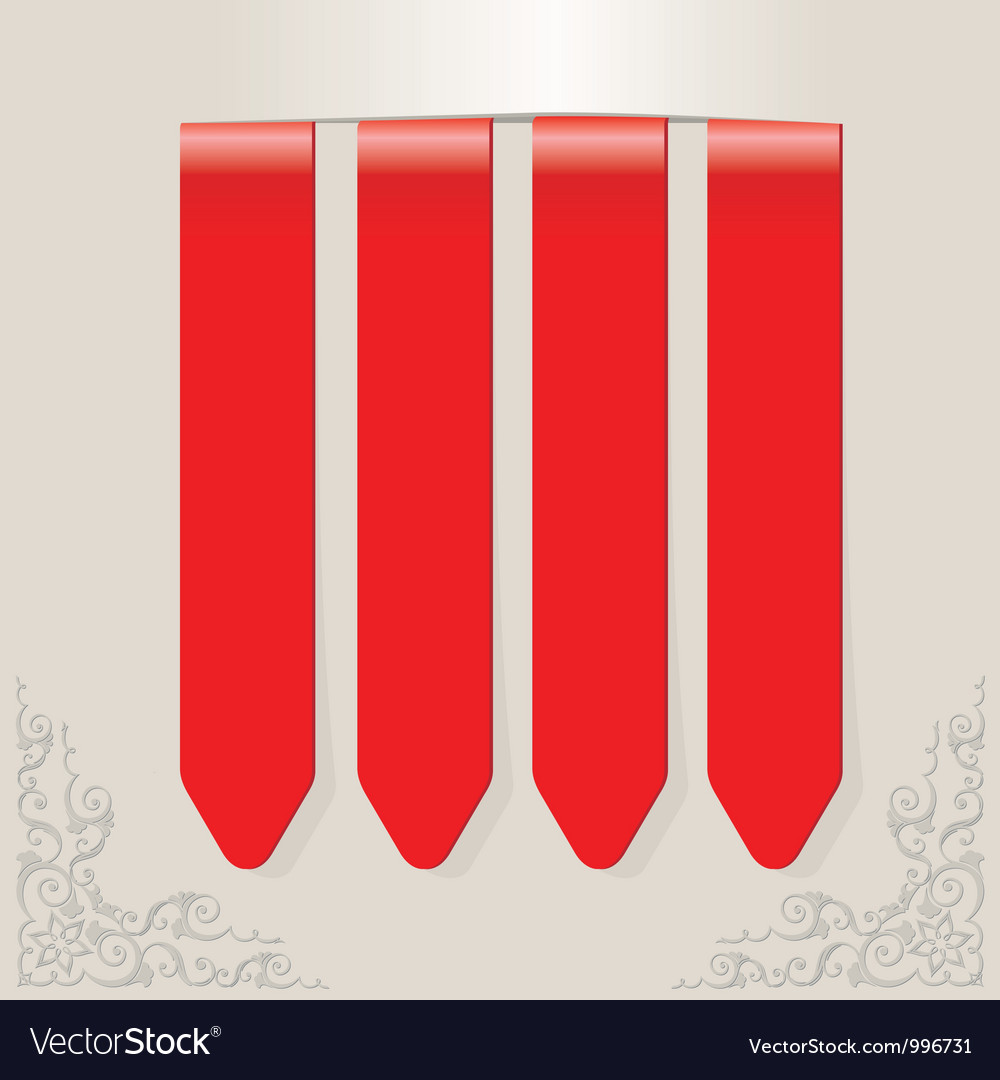 Stick color red vector | Price: 1 Credit (USD $1)