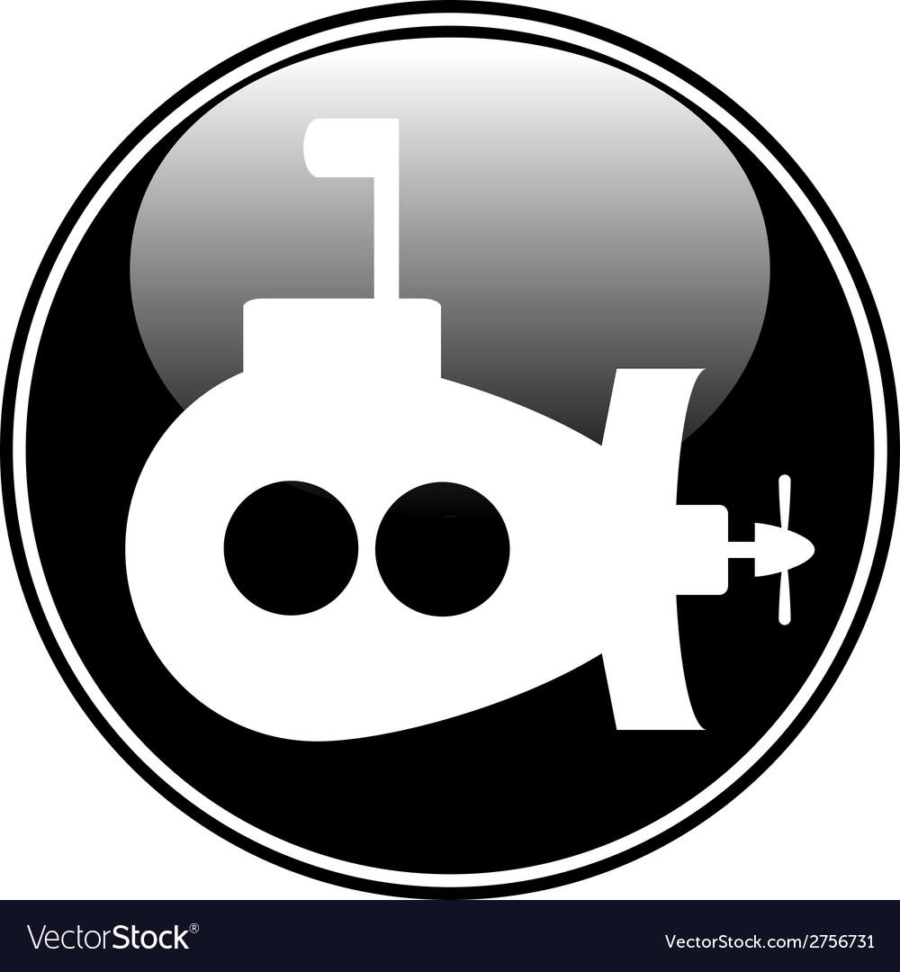 Submarine button vector   Price: 1 Credit (USD $1)