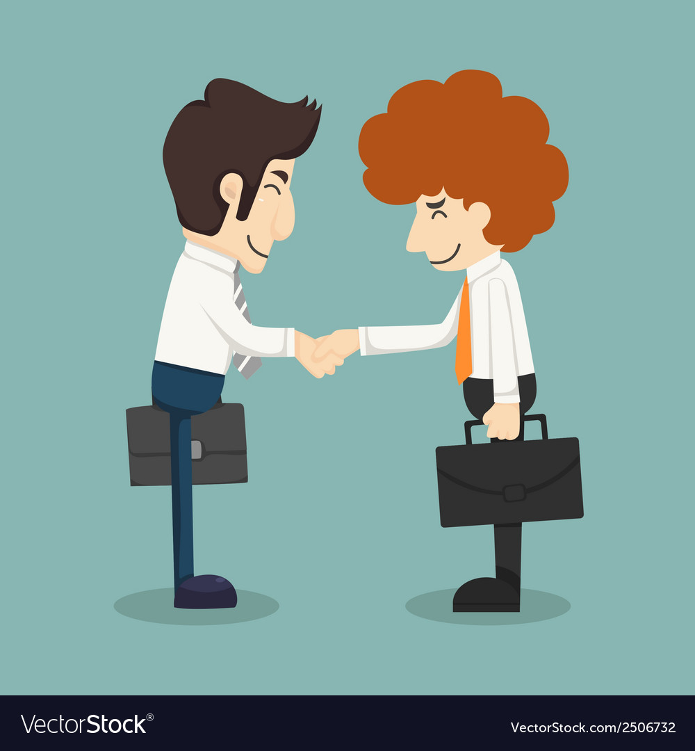 Businessman handshake businessmen making a deal vector | Price: 1 Credit (USD $1)