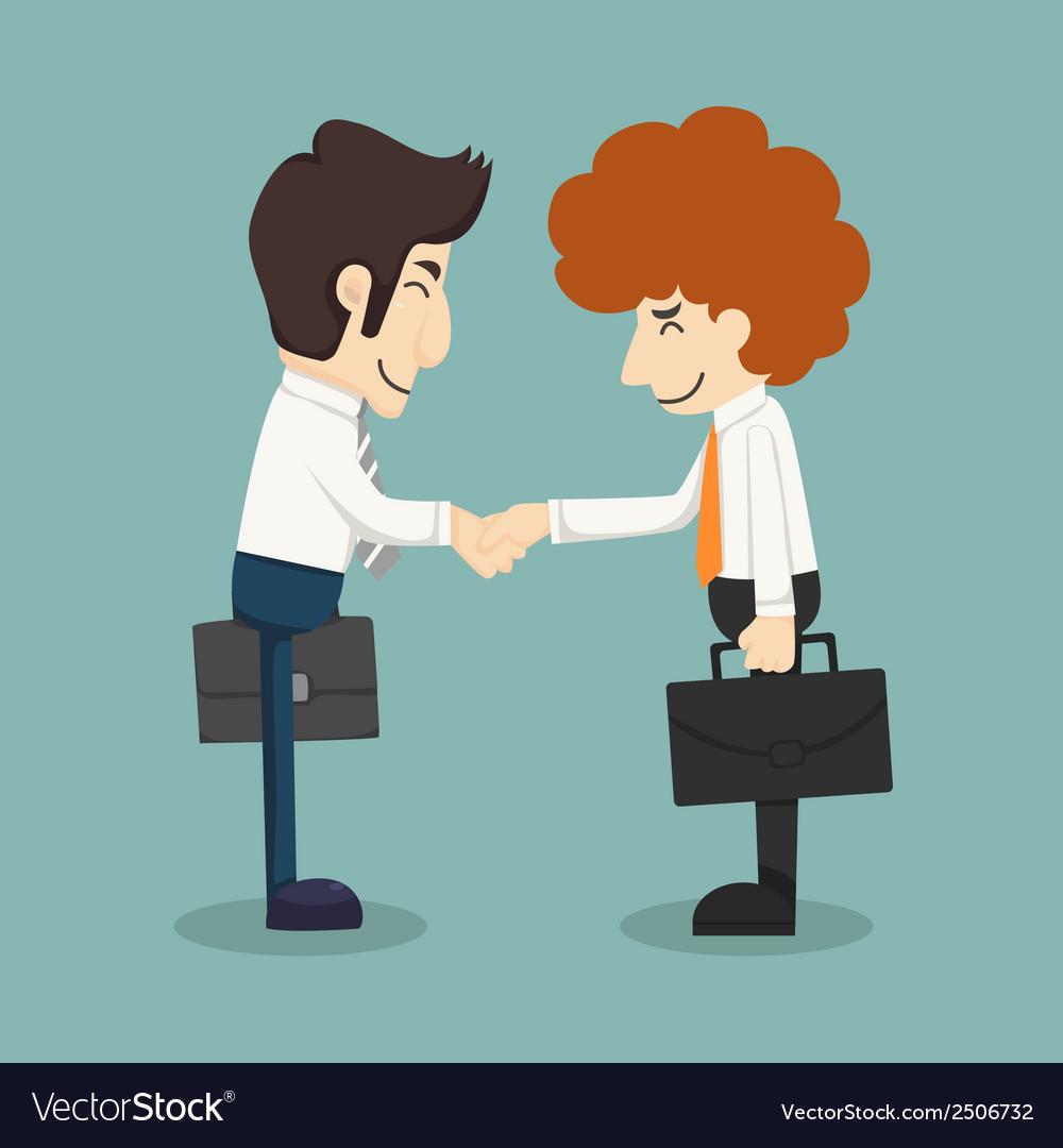 Businessman handshake businessmen making a deal vector | Price: 1 Credit (USD $1)
