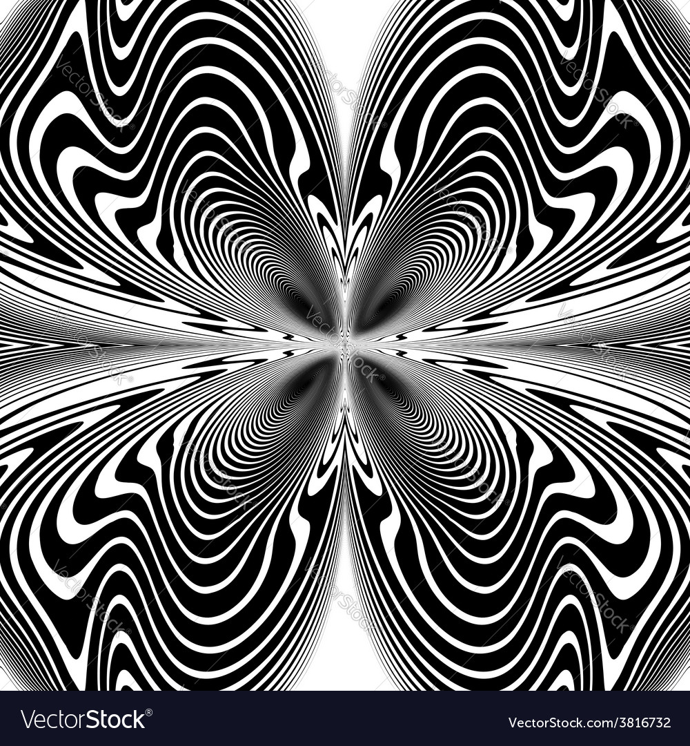 Design monochrome decorative twirl background vector | Price: 1 Credit (USD $1)