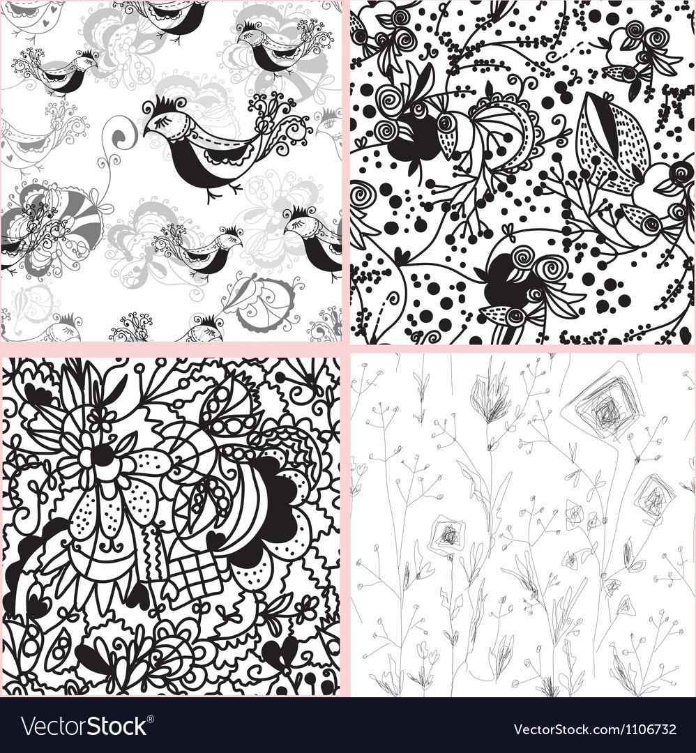 Doodle patterns vector