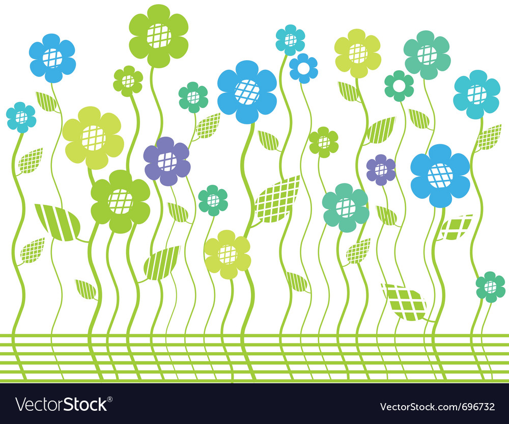 Elegant bright flower border vector | Price: 1 Credit (USD $1)