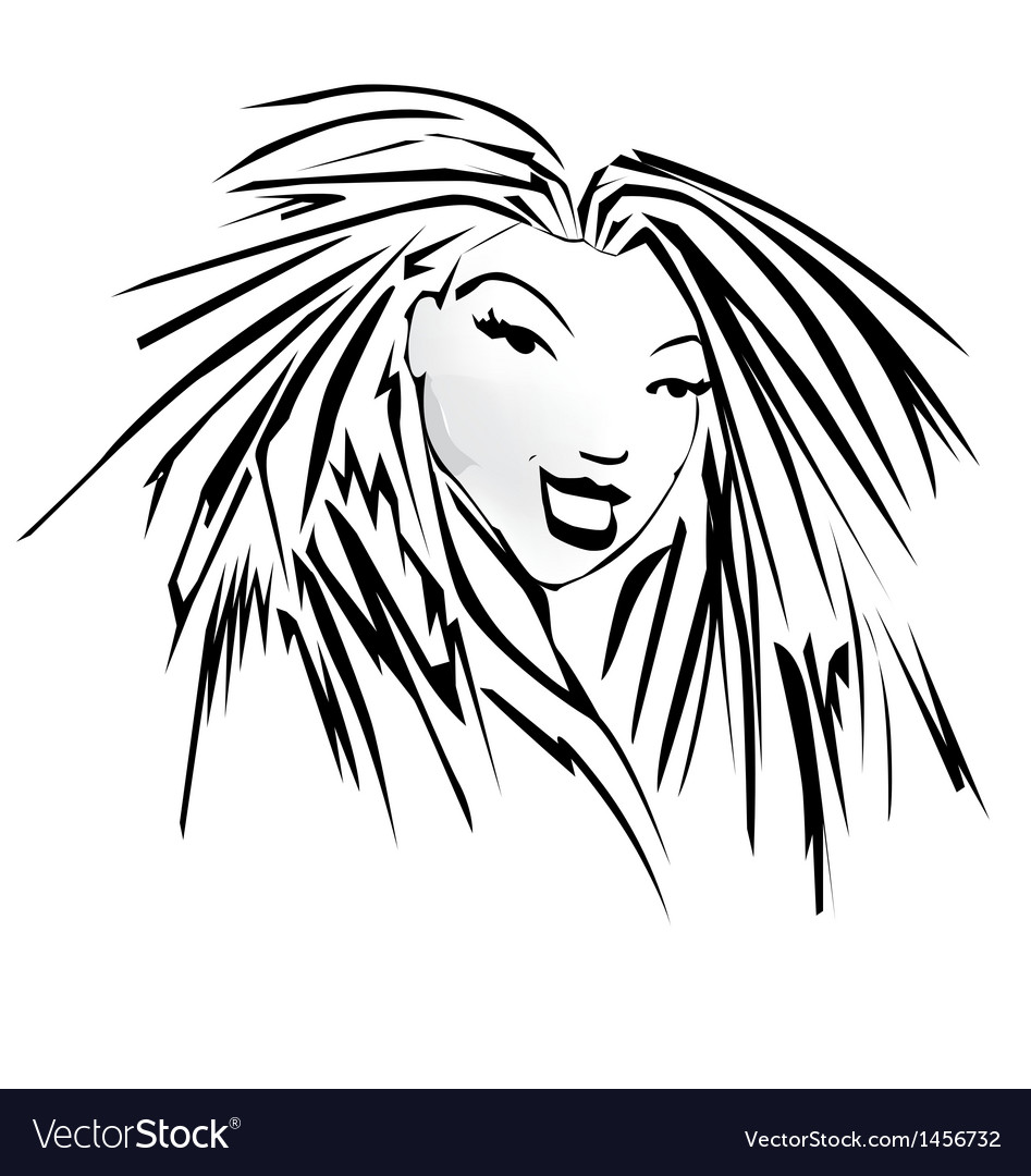 Funky woman vector | Price: 1 Credit (USD $1)