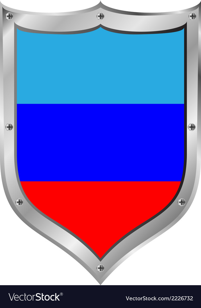 Shield with flag of lugansk vector | Price: 1 Credit (USD $1)
