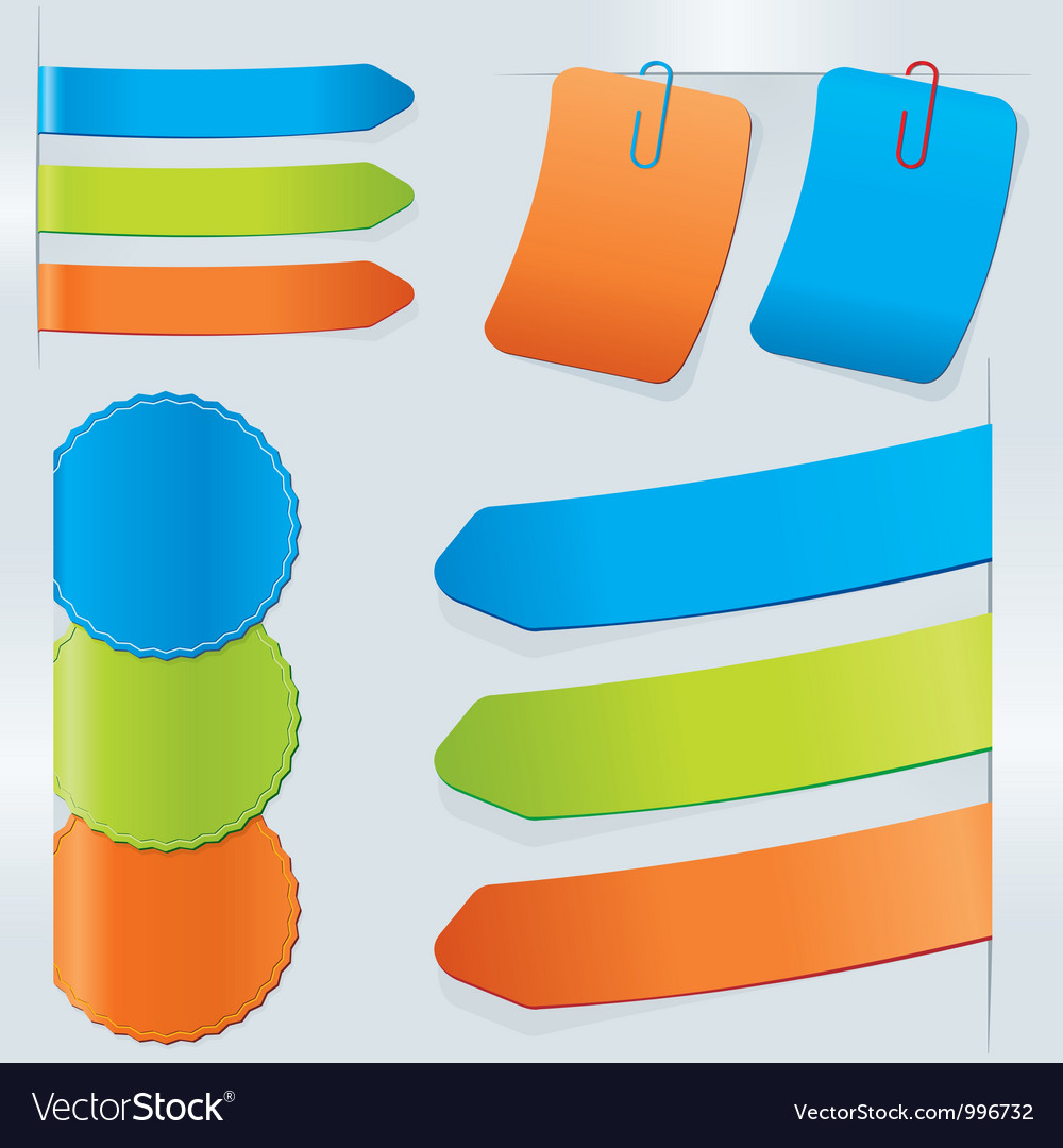 Stick color set vector | Price: 1 Credit (USD $1)