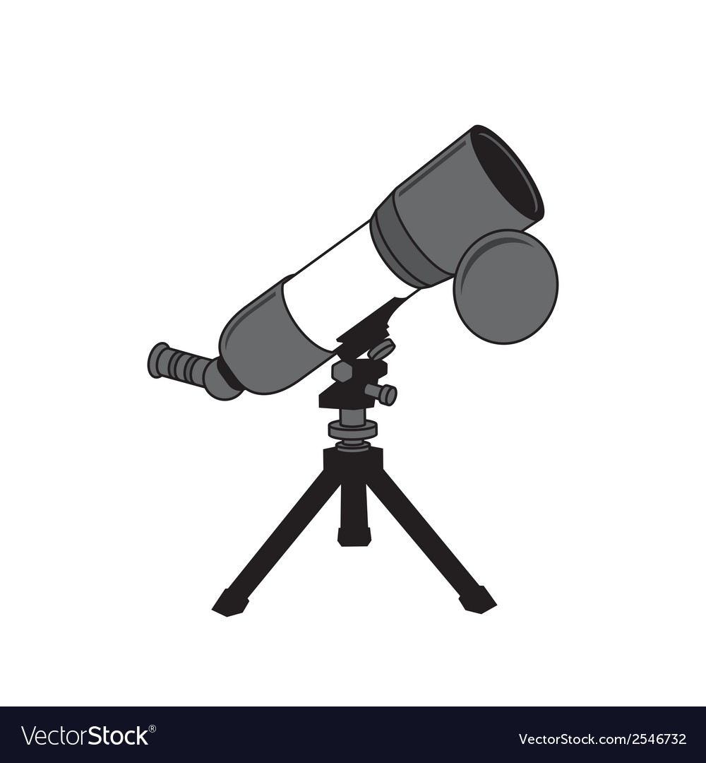 Telescope sign vector | Price: 1 Credit (USD $1)