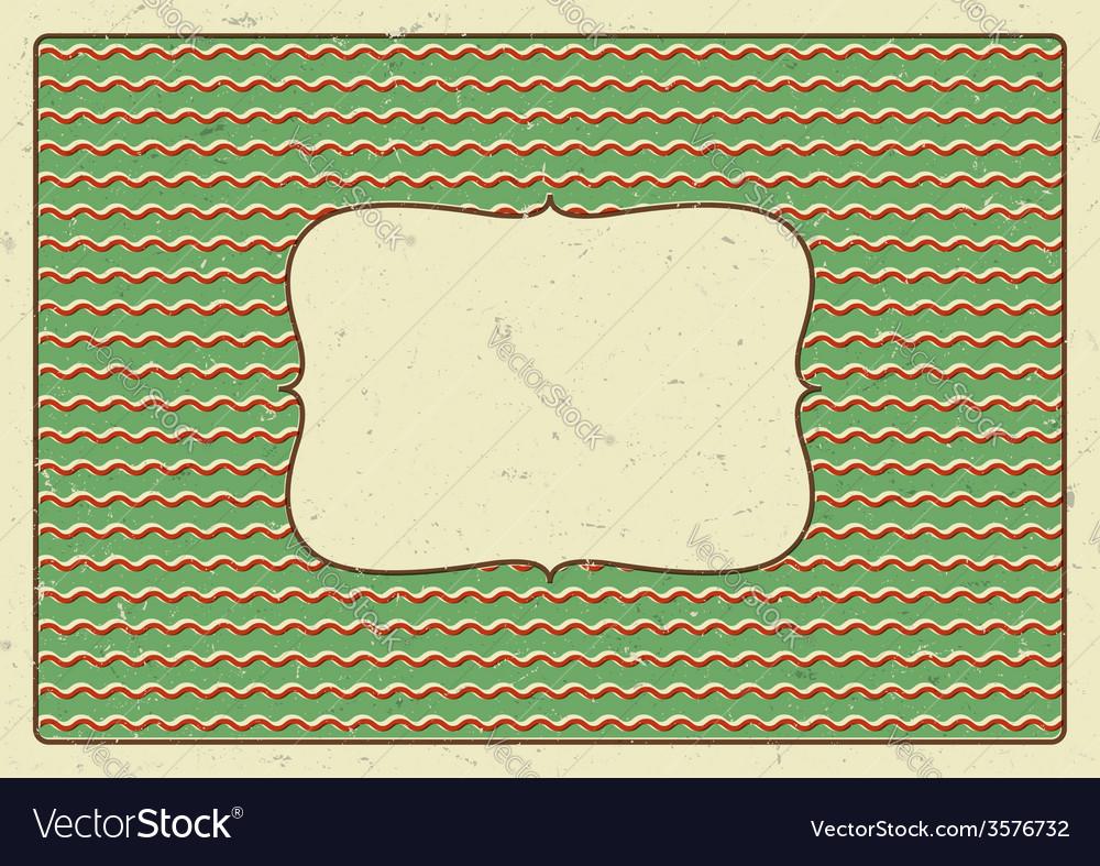 Vintage frame printed on a cardboard vector | Price: 1 Credit (USD $1)