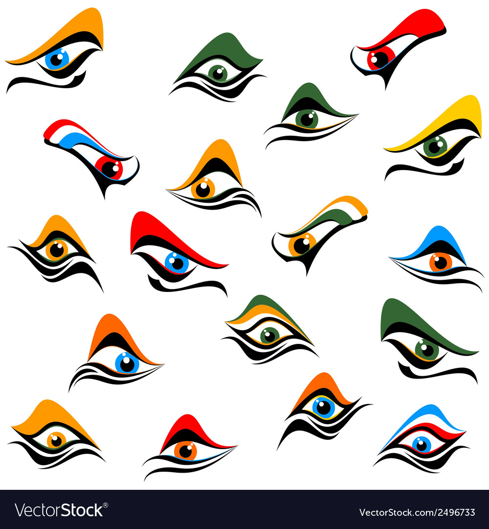 Background of abstract eye vector | Price: 1 Credit (USD $1)