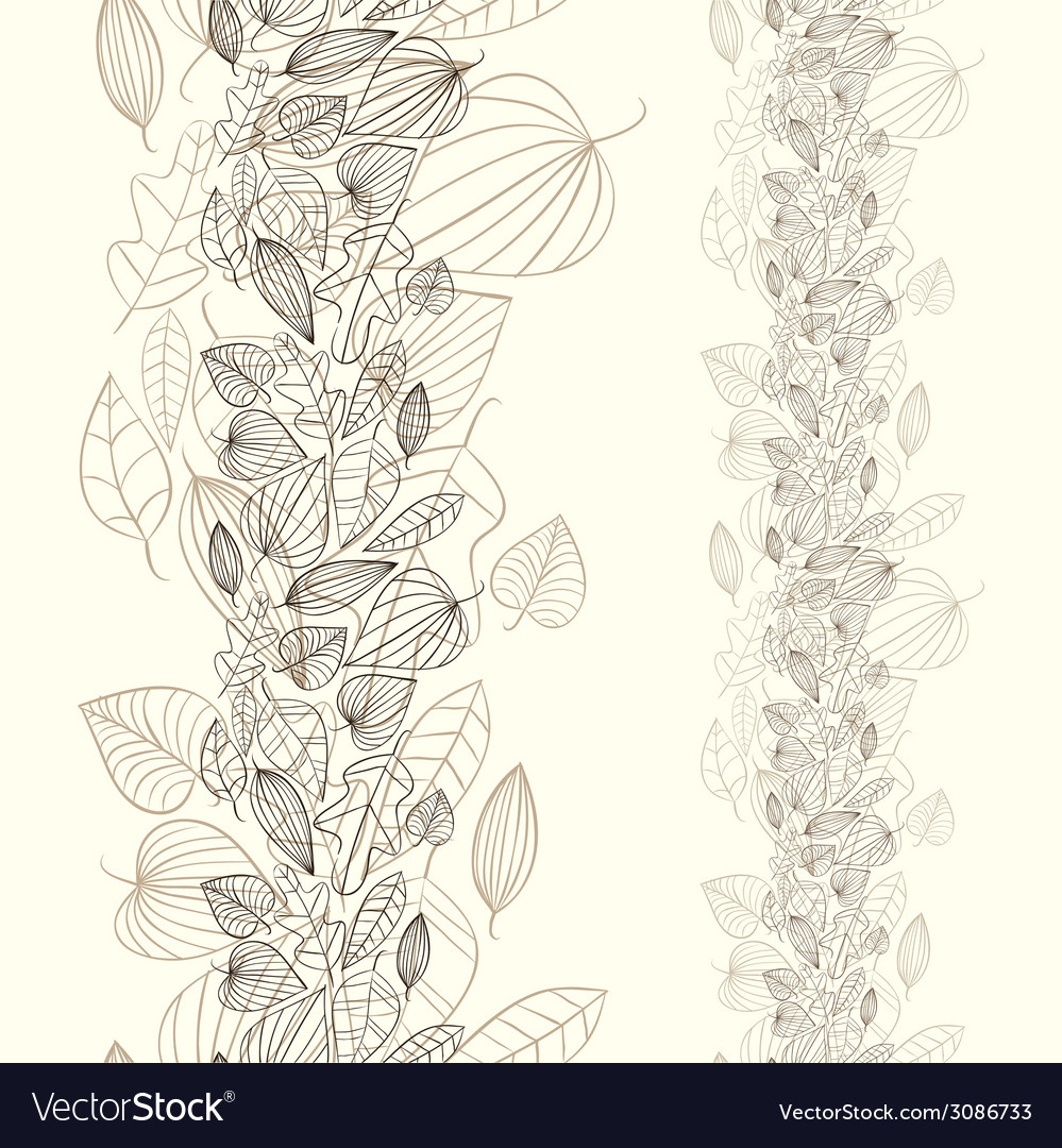 Beautiful autumn leaves seamless pattern vector | Price: 1 Credit (USD $1)