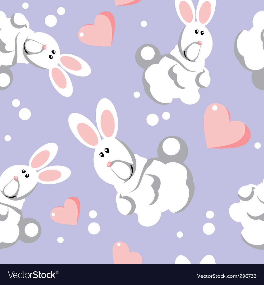 Bunny seamless pattern vector | Price: 1 Credit (USD $1)